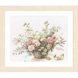 Kit au point compté bouquet de roses  - 4