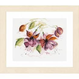 Kit au point compté fleurs en aquarelle  - 4