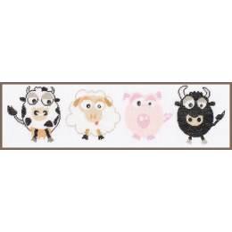Kit au point compté vache/mouton/cochon/taureau - 4