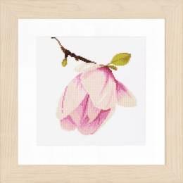 Kit au point compté bouton de magnolia  - 4