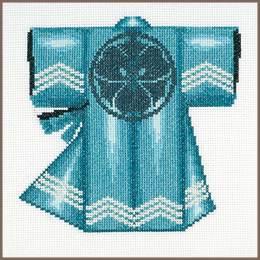 Kit au point compté kimono bleu - 4