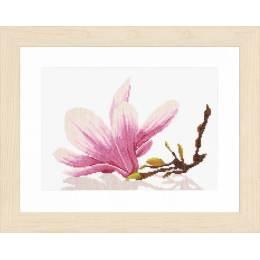 Kit au point compté branche de magnolia  - 4