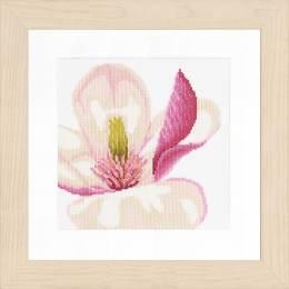 Kit au point compté fleur de magnolia  - 4
