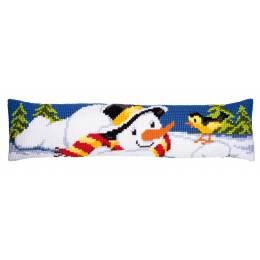 Kit bas de porte au point de croix bonhomme neige - 4