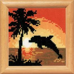 Kit miniature dauphin sur coucher du soleil - 4