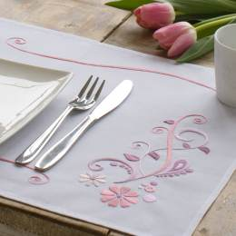 Kit set de table fleurs roses lot de 2 - 4
