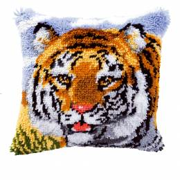 Coussin point noué tigre 40x40cm - 4