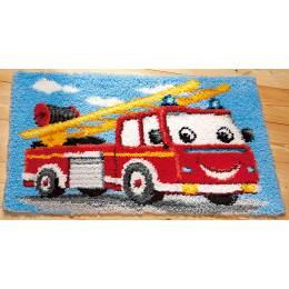 Kit tapis au point noué camion de pompier - 4