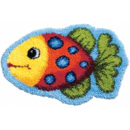 Kit tapis modelé au point noué poisson - 4