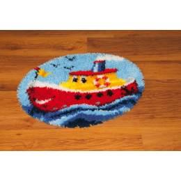 Kit tapis modelé au point noué le petit navire - 4