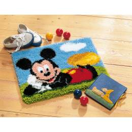 Tapis kit au point noué mickey mouse - 4