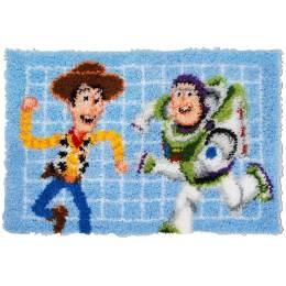 Kit tapis au point noué Disney toy story - 4