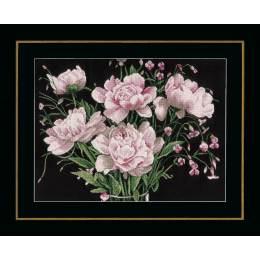 Kit au point compté fleurs roses  - 4