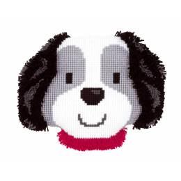 Kit coussin au point de croix & noué petit chien - 4