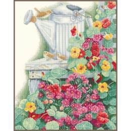 Kit au point compté jardin fleurs  - 4