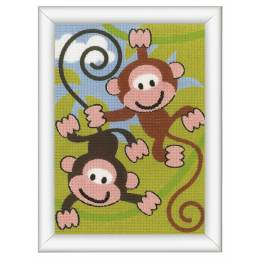 Kit tapisserie singes - 4