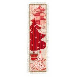 Kit marque-page sapins de noël rouges - 4