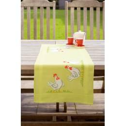 Kit chemin de table poules blanches - 4