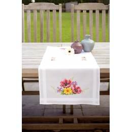 Chemin de table champs de fleurs coquelicots - 4