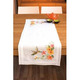 Chemin table blanc kit complet 40/100cm - 4