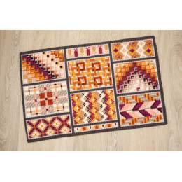 Kit tapis au point de croix cases géométriques - 4
