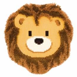 Kit coussin au point de croix & noué lion souriant - 4