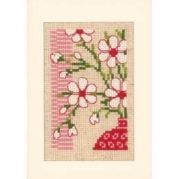 Kit carte motif japonais avec fleurs lot 3 - 4
