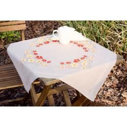 Kit nappe coquelicots et fleurs de vanille - 4