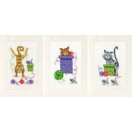 Kit carte de chats ludiques lot de 3 - 4