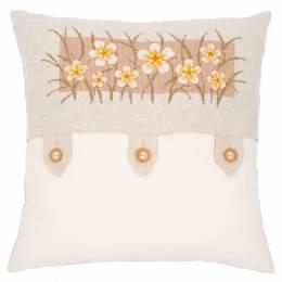 Kit coussin au point compté fleurs de vanille - 4