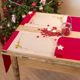 Kit set de table arbre de noël et cœurs lot de 2 - 4