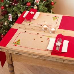 Kit set de table arbre de noël lot de 2 - 4
