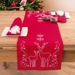 Chemin de table rouge kit complet 30/105cm - 4