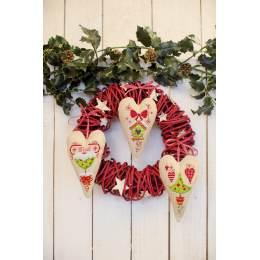 Kit cœur déco arbre de noël et cœurs - 4