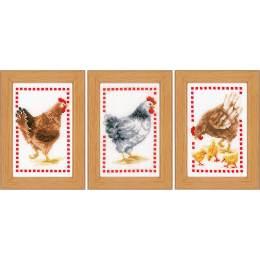 Miniature kit chickens set de 3 - 4