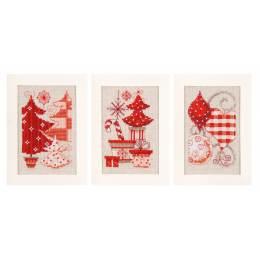Lot de 3 dessins avec cartes écrues et enveloppes  - 4