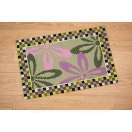 Kit tapis au point de croix fleurs décoratives - 4