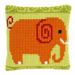 Kit coussin au point de croix petit éléphant - 4