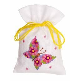 Sachet senteur papillon rose aida - 4