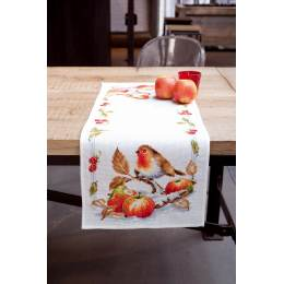 Chemin de table aïda rouge-gorge avec pommes - 4
