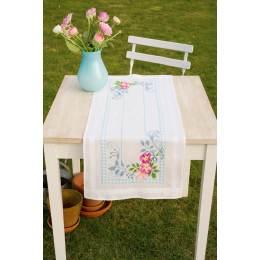 Kit chemin de table splendeur de fleurs roses - 4