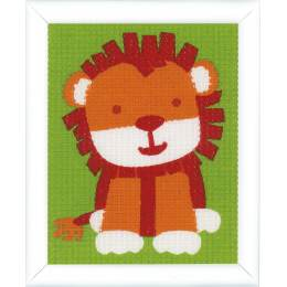 Canevas kit cute lion - 4