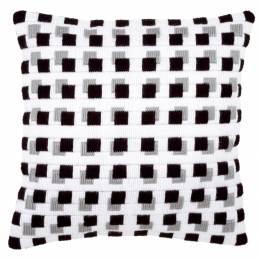 Kit coussin au point lancé cubes noirs - 4