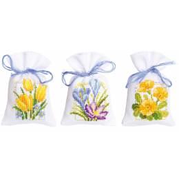 Sachet senteur fleurs printanières aida lot 3 - 4