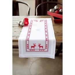 Kit chemin de table rennes rouges - 4