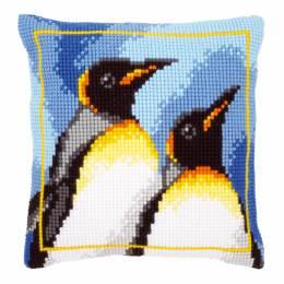 Coussin point de croix penguins - 4