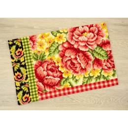Kit tapis au point de croix roses - 4