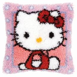 Coussin point noué Hello Kitty 40x40cm - 4
