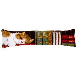 Bas de porte 80/20cm chat dormant sur étagère - 4