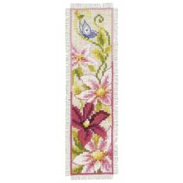 Kit marque-page fleurs roses - 4